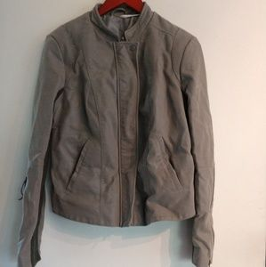 Grey free people biker jacket